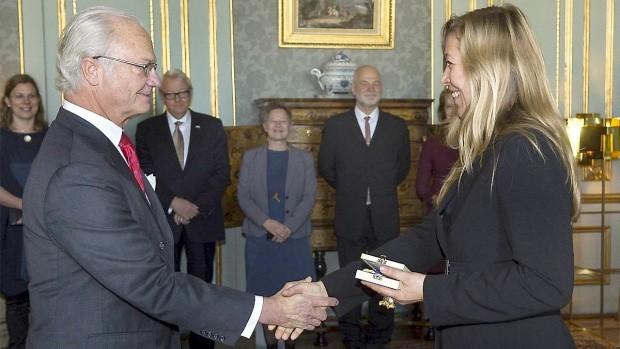 Louise-Hindsgavl-receives-Prince-Eugen-Medal